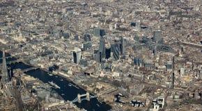 London från luften Arkivfoto