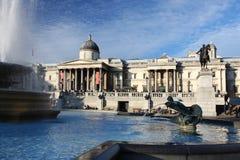 london fyrkantigt trafalgar Royaltyfri Bild