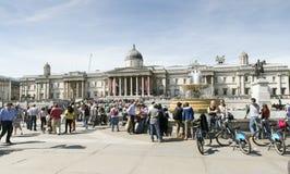 london fyrkantigt trafalgar Royaltyfri Foto