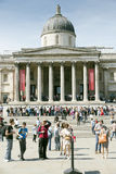 london fyrkantigt trafalgar Royaltyfri Fotografi
