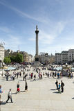 london fyrkantigt trafalgar Arkivfoto