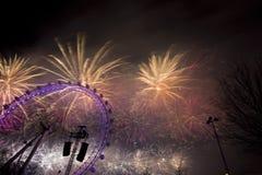 London fyrverkerier Arkivbilder