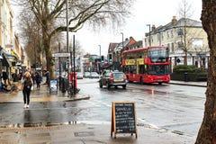 London gata Chiswick Royaltyfri Fotografi