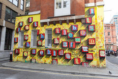 London gatakonst Arkivbild