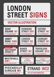 London gatatecken royaltyfri illustrationer
