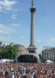 London Gay Pride Trafalgar Square 2013 royalty free stock images