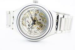 London, GB 07.10.2020 - Swatch swiss made mechanical watch sceletone dial