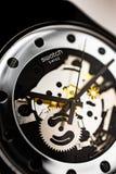 London, GB 07.10.2020 - Swatch swiss made quartz watch close up