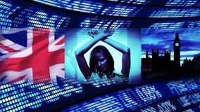 London-Geschäfts-Montage stock footage