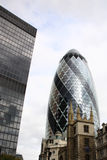 London Gherkin Building Stock Photo