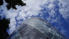 London Gherkin Skyscraper Royalty Free Stock Photos