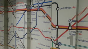 London gångtunnelöversikt Arkivfoton