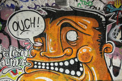 London graffiti. Graffiti on the wall on one of the buildings in London Royalty Free Stock Photos