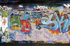 London - Graffiti on Skate Park #3 Stock Photos