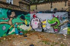 London graffiti street art Royalty Free Stock Photo
