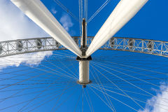 London, Great Britain - January 28, 2016: London Eye from downside Stock Photo