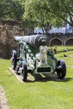 Bronze cannon at the Tower of London Royalty Free Stock Image