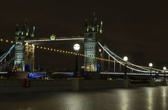Tower Bridge at night in London United Kingdom Royalty Free Stock Photography