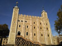 London / Great Britain - October 31 2016: The Tower of London castle, main building royalty free stock image