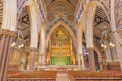 LONDON, GREAT BRITAIN - SEPTEMBER 15, 2017: The church All Saints with the main altar by Ninian Comper 1864 - 1960.  Stock Photos