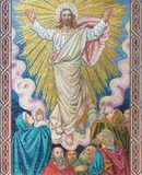 LONDON, GREAT BRITAIN - SEPTEMBER 17, 2017: The mosaic of The Ascension of the Lord in church St. Barnabas Stock Photography