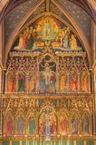 LONDON, GREAT BRITAIN - SEPTEMBER 15, 2017: The neo gothic main altar in church All Saints by Ninian Comper stock photos