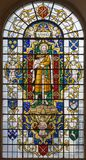 LONDON, GREAT BRITAIN - SEPTEMBER 14, 2017: The saint Paul the apostle on the stained glass in church St. Lawrence Jewry Royalty Free Stock Photography