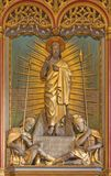 LONDON, GREAT BRITAIN - SEPTEMBER 19, 2017: The sculptural gooup of Resurrection of Jesus  in St Mary Abbot`s church. LONDON, GREAT BRITAIN - SEPTEMBER 19, 2017 Stock Image