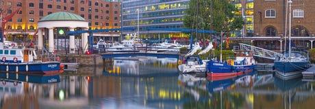 LONDON, GREAT BRITAIN - SEPTEMBER 14, 2017: The St. Katharine docks in morning light Stock Image