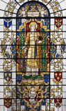 LONDON, GREAT BRITAIN - SEPTEMBER 14, 2017: St. Katherine of Alexandria on the stained glass in church St. Lawrence Jewry Royalty Free Stock Photo