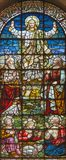 LONDON, GREAT BRITAIN - SEPTEMBER 18, 2017: The stained glass of Transfiguration in church St. Giles in the Fields Stock Photography