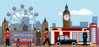 London and Great britain set. Traditions and culture collection. stock illustration