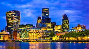 London, Great Britain, UK: Cityscape around Southwark, Thames river royalty free stock photography