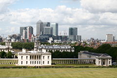 London from Greenwich Stock Photos