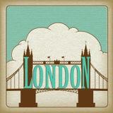 London-Grenzstein, Kontrollturm-Brücke. Lizenzfreie Stockfotografie