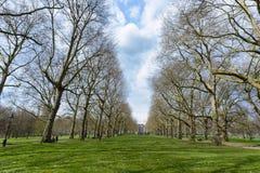 LONDON, Großbritannien - April12, 2016: - Briten, die oben in grünem Parkne kühlen Stockfotos