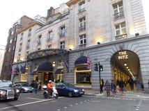 Das Ritz Hotel, in dem Margaret Thatcher gestorben ist lizenzfreie stockbilder