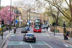 London, Großbritannien - 1. April 2017: Stadt von London, Ansicht von einem Doppelten Stockfoto