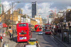 London, Großbritannien - 1. April 2017: Stadt von London, Ansicht von einem Doppelten Lizenzfreie Stockfotos