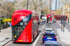 London, Großbritannien - 1. April 2017: Stadt von London, Ansicht von einem Doppelten Lizenzfreie Stockfotografie