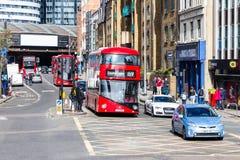 London, Großbritannien - 1. April 2017: Stadt von London, Ansicht von einem Doppelten Lizenzfreies Stockbild