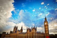 London, Großbritannien. Big Ben, der Palast von Westminster Lizenzfreies Stockbild