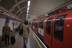 LONDON Großbritannien - 27. Juli 2017: London Untertage Lizenzfreies Stockbild