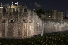 London, Großbritannien - 6. November 2018: Über dem vertiefenden Schatten am Tower von London hinaus - eine Installation von 10.0 lizenzfreies stockfoto
