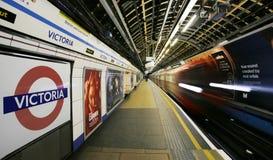 Station Londons Victoria Stockbild