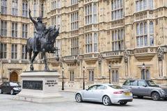 London, Großbritannien: Statue von Richard I Stockbild