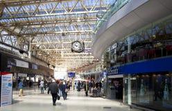 LONDON, Großbritannien - 14. Mai 2014 - Waterloo-Internationalstation Stockfoto