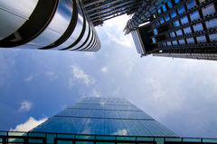 LONDON, GROSSBRITANNIEN - 24. APRIL 2014: Stadt von London eins der führenden Mitten der globalen Finanzierung, Hauptsitze für Fü Lizenzfreies Stockfoto