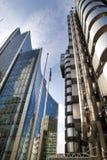 LONDON, GROSSBRITANNIEN - 24. APRIL 2014: Stadt von London eins der führenden Mitten der globalen Finanzierung, Hauptsitze für Fü Stockfotos