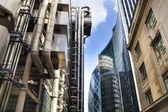 LONDON, GROSSBRITANNIEN - 24. APRIL 2014: Stadt von London eins der führenden Mitten der globalen Finanzierung, Hauptsitze für Fü stockfoto